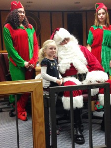 Brooke Kienzle, 5, of Somers Point meets Santa at City Hall after the Parade!