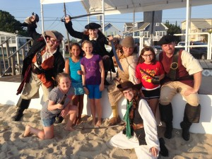 Pirates taking some 'captives' at the Morrow Beach during one of Somers Point's free Monday Night Entertainment programs which run thoughout the summer.